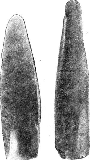 Табл. 7. Лицевая и внутренняя сторона желобчатого долота