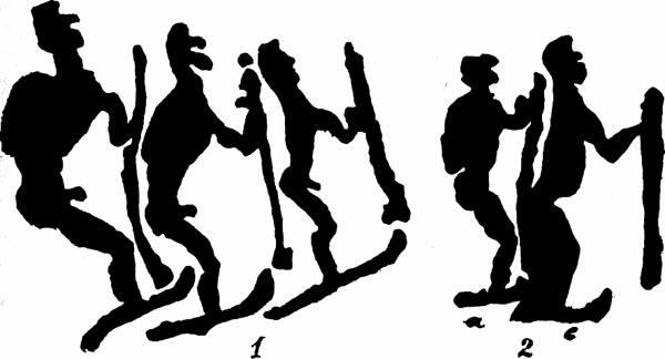 Люди на лыжах (петроглифы)