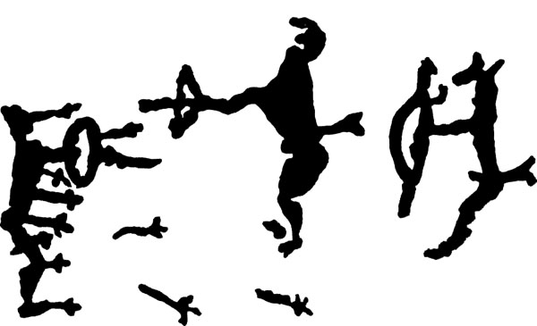 Применение лука  (петроглифы)