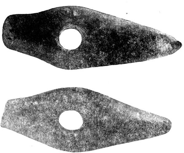 Боевые сверленые молоты из сланца (петроглифы)