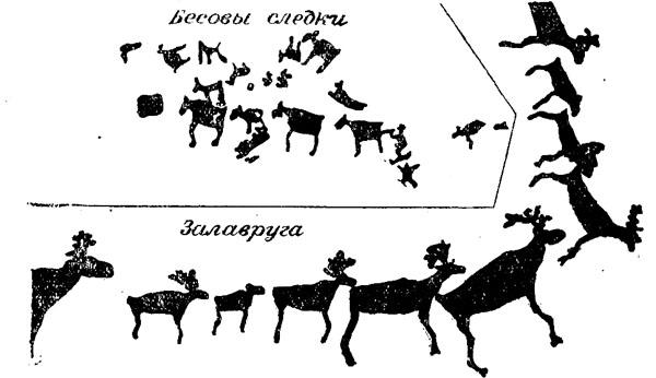 Петроглифы. Беломорские изображения стад оленей
