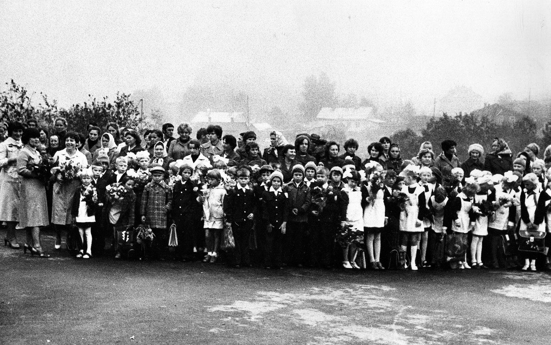 Ведлозерская средняя школа. 1981 год