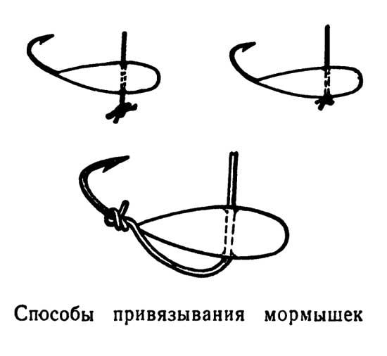 Способы привязывания мормышек