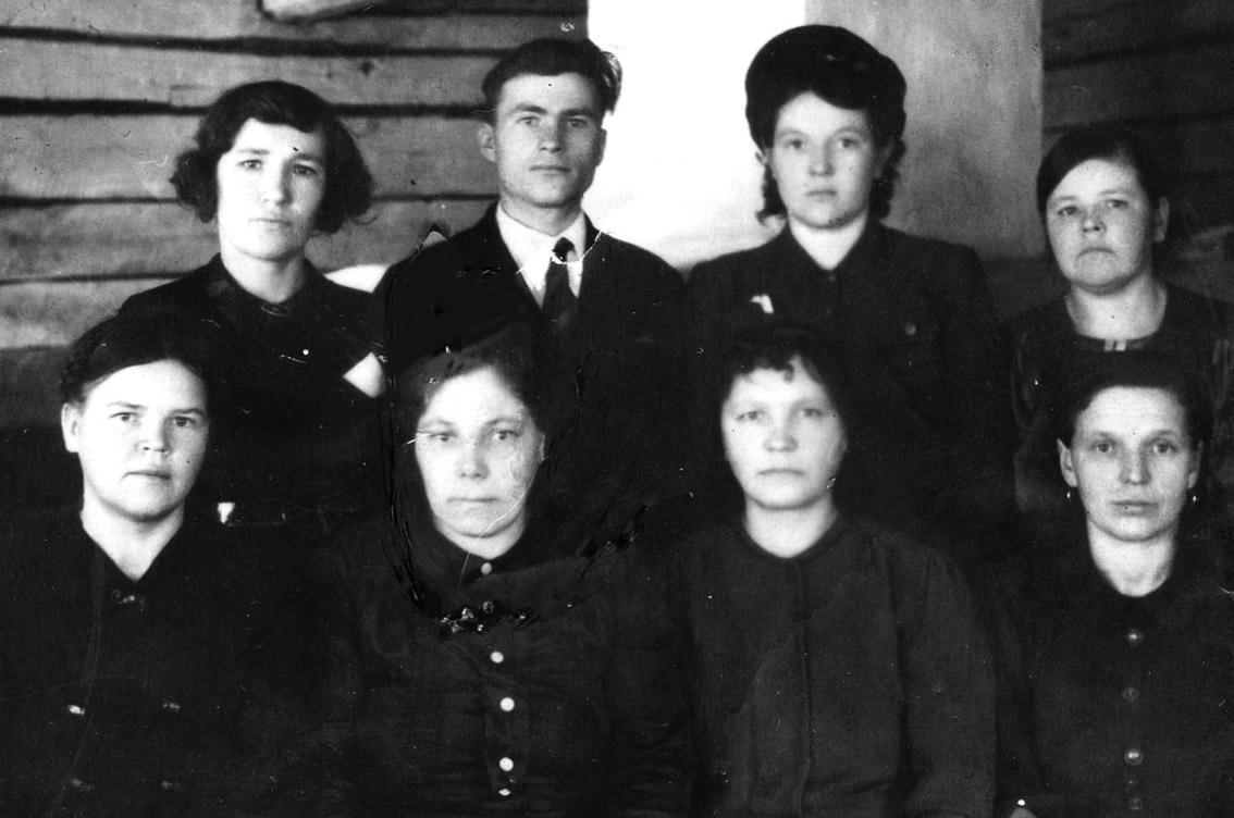 Коллектив Ведлозерской пекарни, 1945 год