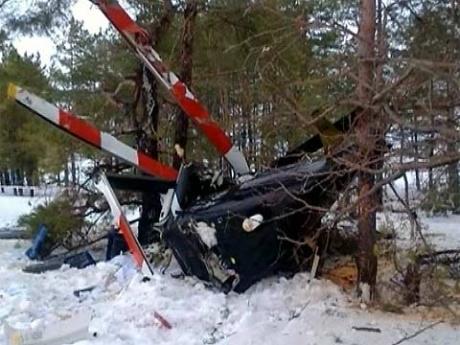 Разбился вертолет в Карелии. Фото Первого канала